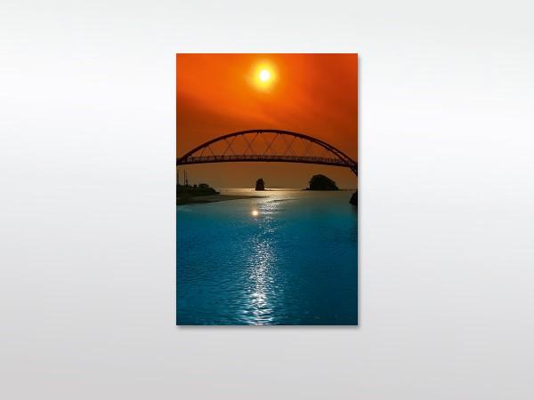 Leinwandbilder XXL Brücke im Sonnenuntergang