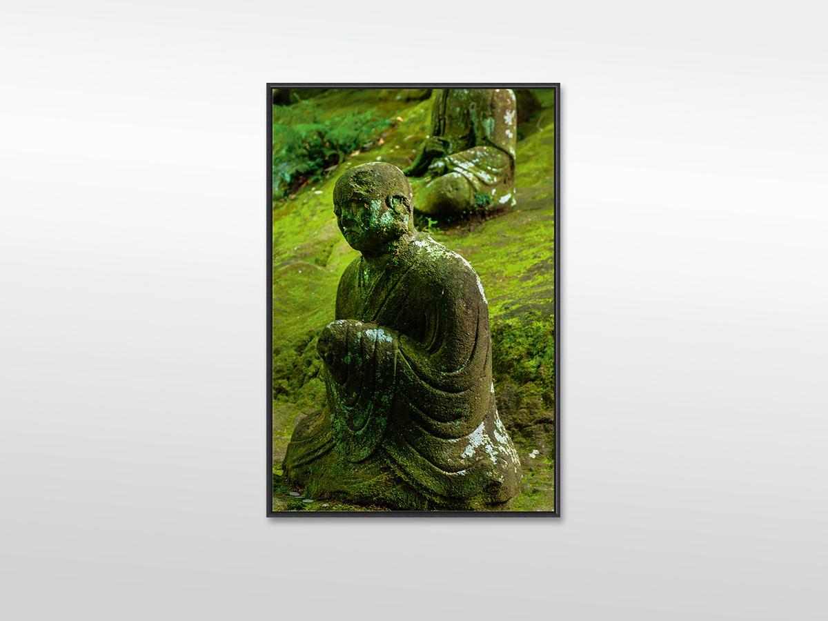 Leinwandbild XXL Buddha mit Holzrahmen