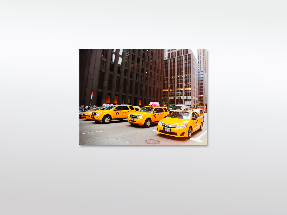 Wandbild-XXL-New-York-Yellow Taxicabs