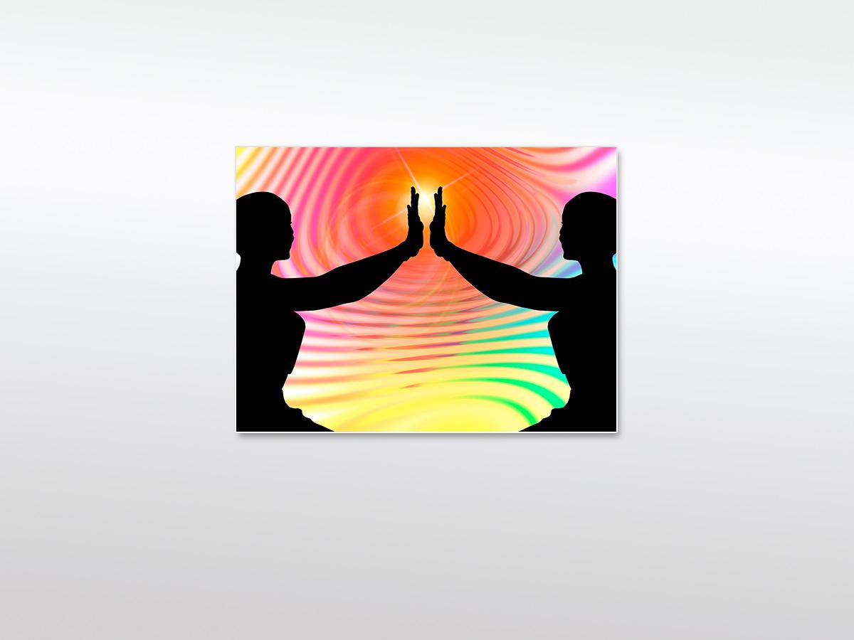 Wandbild XXL Silhouette