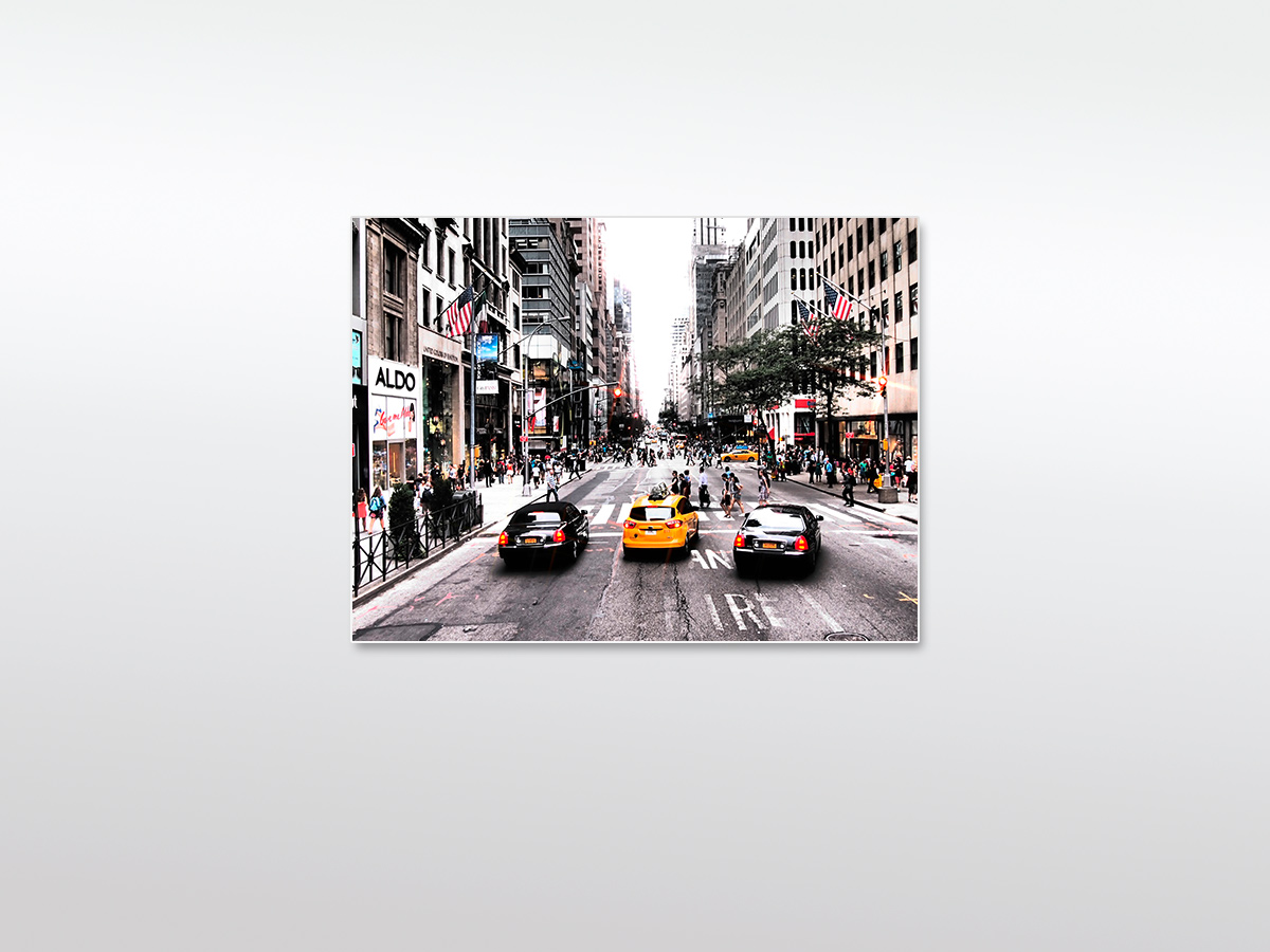 Wandbild XXL New York Yellow Cab
