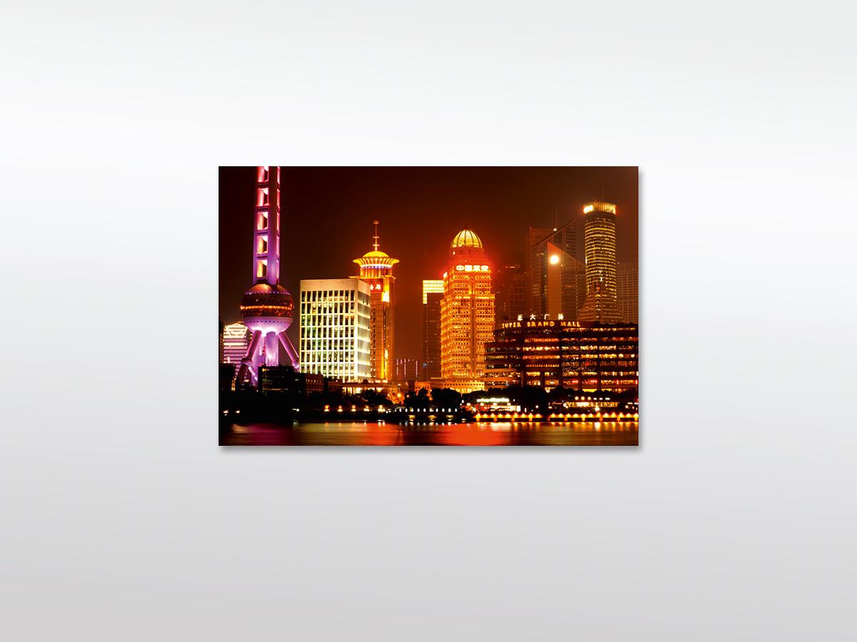 Shanghai Skyline XXL Leinwandbild in versch. Formaten