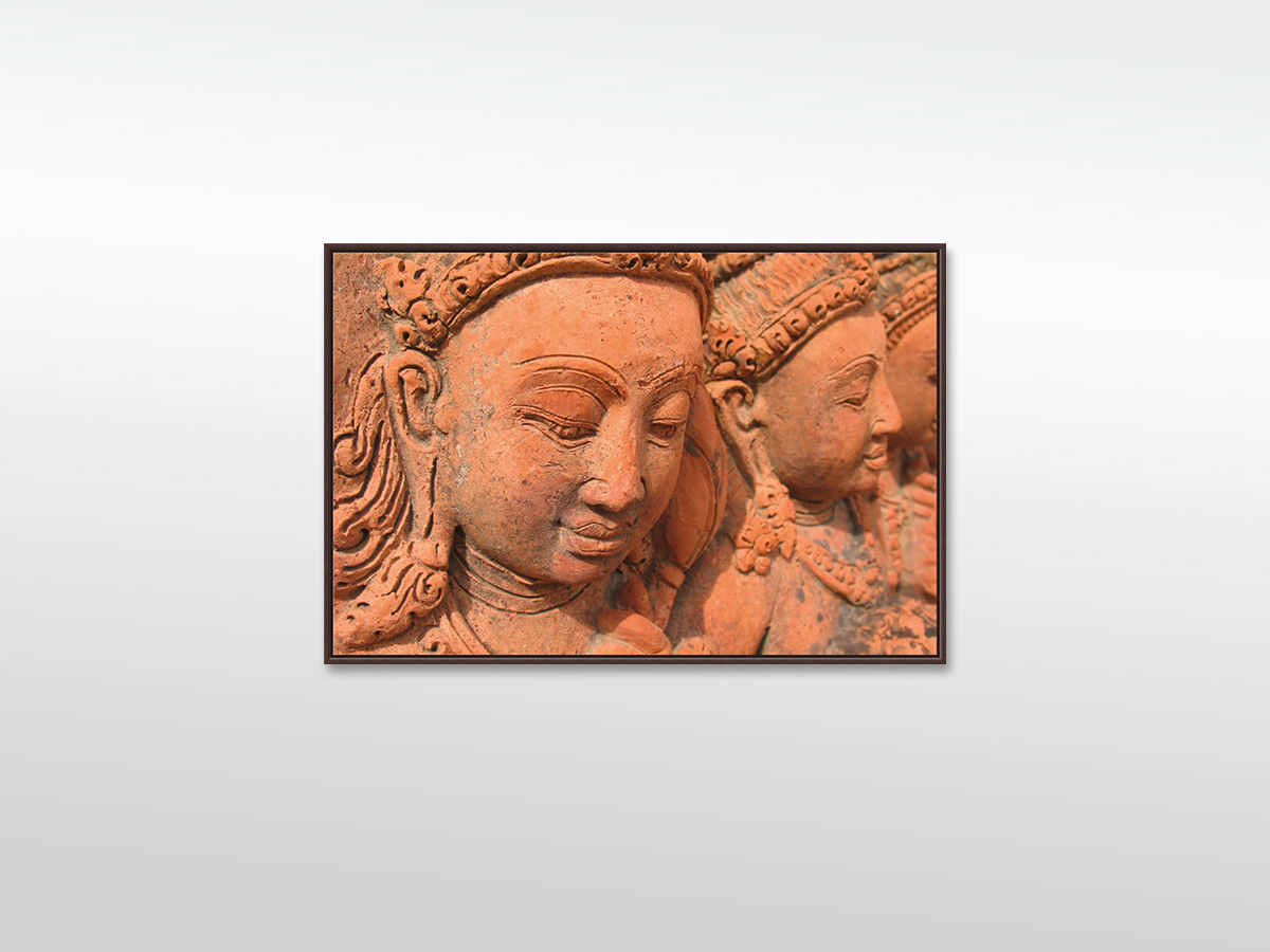 """XXL Leinwandbild """"Wandskulptur Hinduismus"""" in verschiedenen Formaten mit Schattenfugenrahmen, braun"""