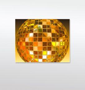 Disko-Kugel Acrylglasbild